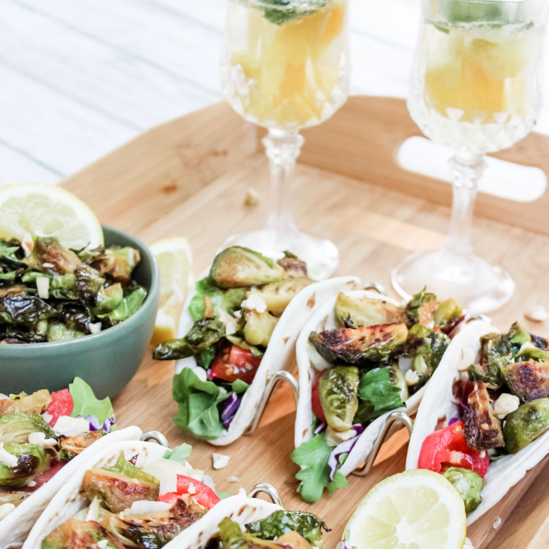 Crispy Miso Lemon Brussels Sprouts Tacos Featured Image