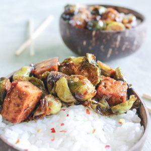 Vegan Teriyaki Tofu and Brussels Sushi Bowl 12
