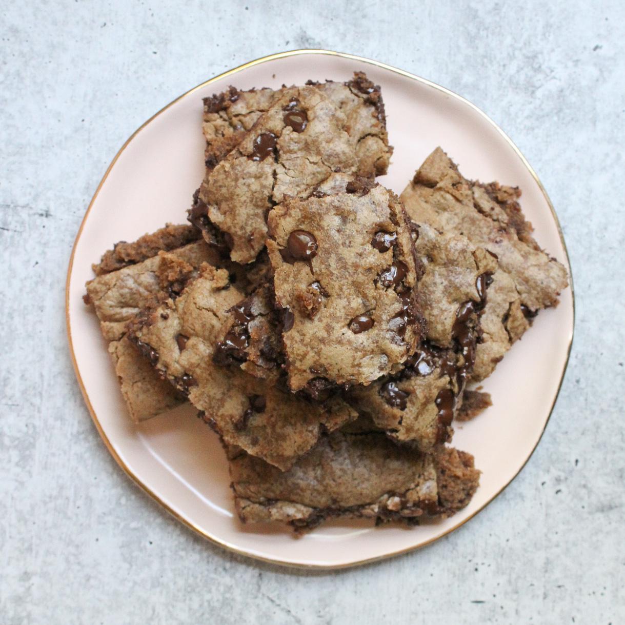 Vegan Mocha Chocolate Chip Cookies Cookie Bars Coffee Featured Image