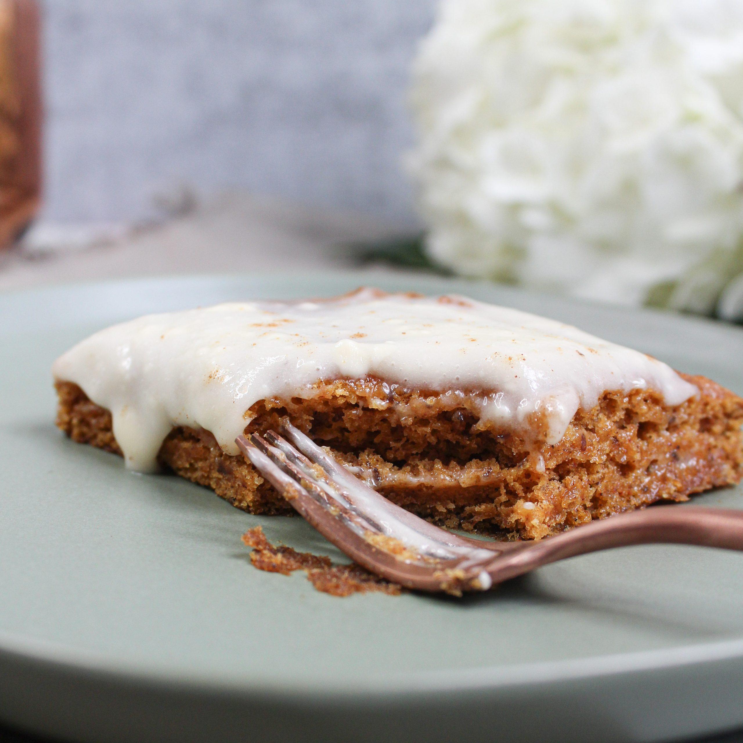 Vegan Fall Dessert Pumpkin Spice Pumpkin Sheet Cake Featured Image